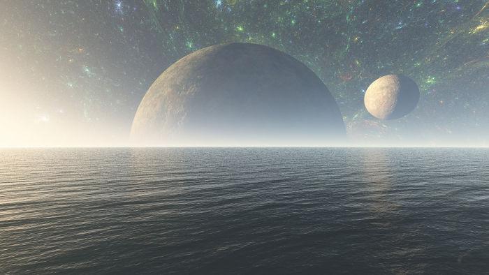 Galaxia plná vodných planét
